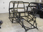 Powder coated chassis front qtr view