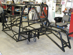 Powder coated chassis rear view