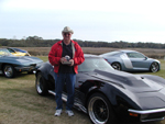 Dave with his award winning Corvette