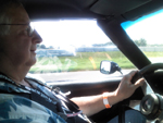 Dave at the wheel